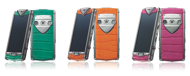 Collection de smartphones Constellation Candy de Vertu.