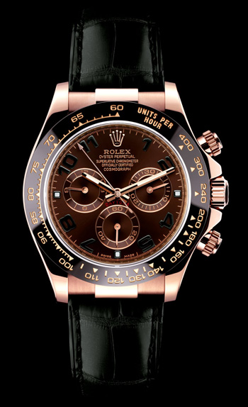 Montre Daytona modèle Dark Chocolate de Rolex