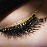 Faux cils et eye liner or de la collection Grand Bal de Dior.