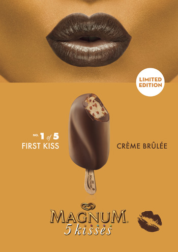 La glace First Kiss de la collection 5 Kisses de Magnum